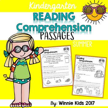 Kindergarten Reading Comprehension Passages - Summer