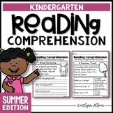 Kindergarten Reading Comprehension Passages - Summer Edition