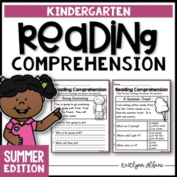 Kindergarten Reading Comprehension Passages - Summer Edition