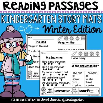 kindergarten reading comprehension passages winter tpt. Black Bedroom Furniture Sets. Home Design Ideas