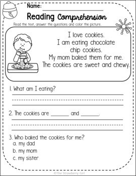 Kindergarten Reading Comprehension Passages - Winter