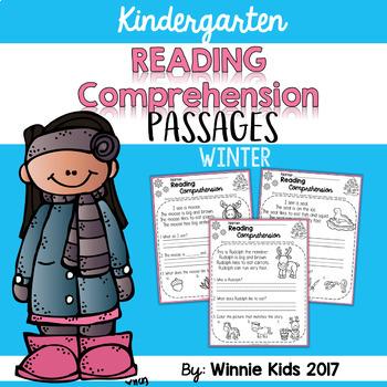 Kindergarten Reading Comprehension Passages - Winter