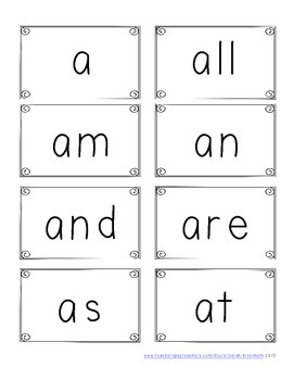 Kindergarten Reading Comprehension Passages and High Frequency Word Cards