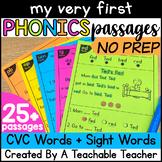 Decodable Passages   CVC Reading Comprehension Passages and Questions