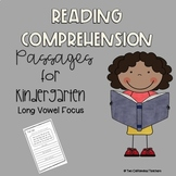 Kindergarten Reading Comprehension Practice (Long A, E, I, O and U Practice)