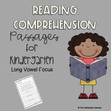 Kindergarten Reading Comprehension Practice (Long A, E, I,