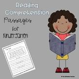 Kindergarten Reading Comprehension Practice (Short A, E, I