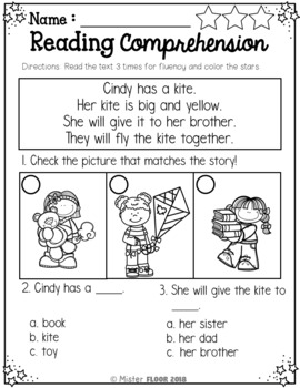 Kindergarten Reading Comprehension (Spring)