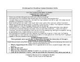 Kindergarten Reading Comprehension Units
