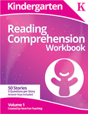 Kindergarten Reading Comprehension Workbook - Volume 1 (50 Stories)