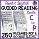 Kindergarten - Fourth Grade Reading Passages & Questions for Gd. Rdg. Levels A-T