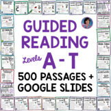 K - 4th Grade Guided Reading Comprehension Levels A-T Distance Learning Packets