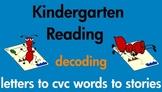 Kindergarten Reading Decoding Short Vowel Words and Stories Common Core