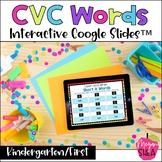 Kindergarten Reading Digital CVC Words for Distance Learni