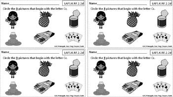 Kindergarten Reading Exit Slips