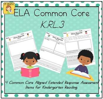 Kindergarten Reading Extended Response Set K.RL.3