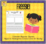 Kindergarten Reading Extended Response R.KL.3 FREEBIE