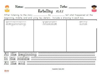 Kindergarten Reading Extended Response Set K.RL.2
