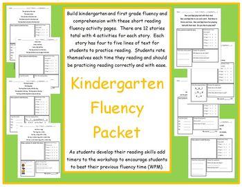 Kindergarten Reading Fluency Packet