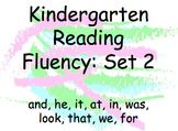 Kindergarten Reading Fluency Powerpoint: Set 2