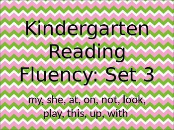Kindergarten Reading Fluency Set 3