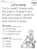 Ending Blends Reading Fluency and Comprehension Passages