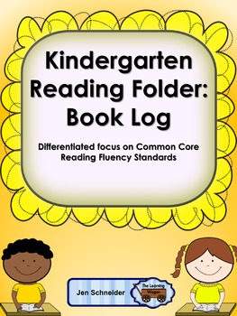 Kindergarten Reading Folder: Book Log