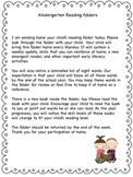 Kindergarten Reading Folders - Home-School Connection