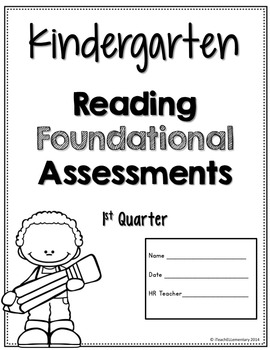 Kindergarten CCSS Assessment Pack {Reading Foundational Skills}