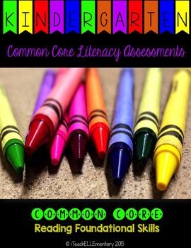 Kindergarten CCSS Assessment Pack {Reading Foundational Skills}