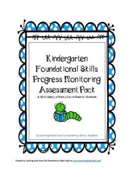 Kindergarten Reading Foundational Skills Progress Monitoring Probes