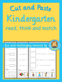Kindergarten Reading Fun  read, think and match