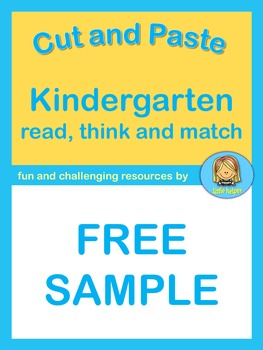 Free Kindergarten Reading Fun  read, think and match