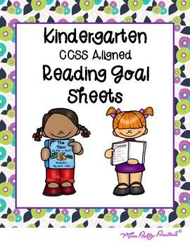 Kindergarten Reading Goal Sheets