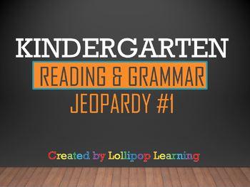 Kindergarten Reading & Grammar Jeopardy #1