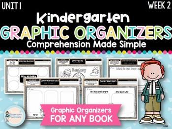 Kindergarten Reading Graphic Organizers (Unit 1, Week 2)