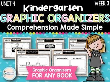 Kindergarten Reading Graphic Organizers (Unit 4, Week 3)
