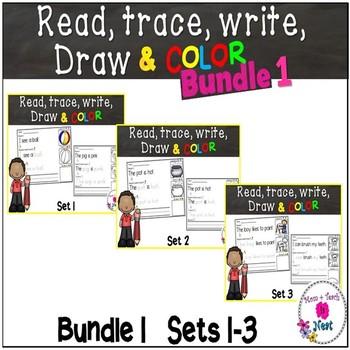 Kindergarten Reading & Handwriting Worksheets- BUNDLE