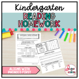 Kindergarten Reading Homework