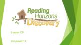 Kindergarten- Reading Horizons Chapter 1