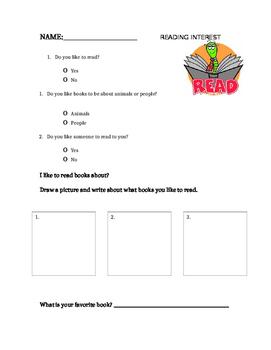 Kindergarten Reading Inventory