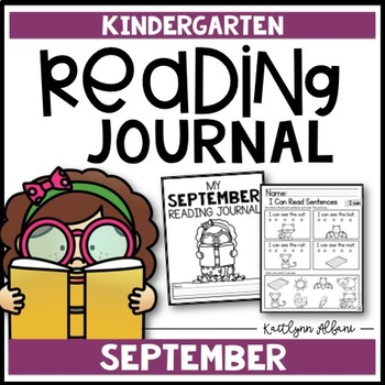 Kindergarten Reading Journal - Comprehension and Fluency (September)