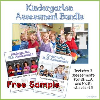 Kindergarten Reading Literature Assessments Freebie
