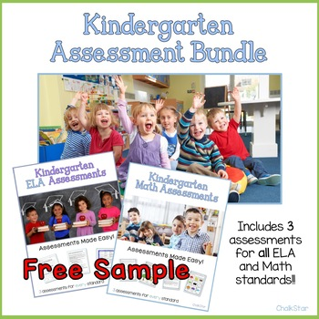 Kindergarten Reading Literature Assessments Freebie