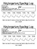 Kindergarten Reading Log