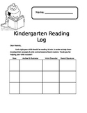 Kindergarten Reading Log