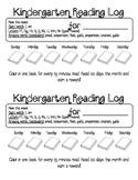 Kindergarten Reading Log Book-It