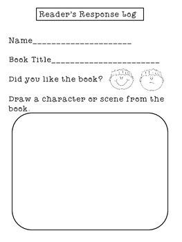 Reading Logs for Homework | Kindergarten Reading Logs