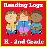 Reading Logs | Kindergarten 1st 2nd 3rd Grade