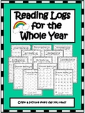 Reading Logs for the Whole Year! - EDITABLE - Perfect for K/1